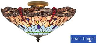 searchlight dragonfly semi flush ceiling light 1289 16