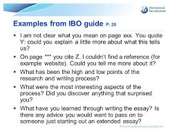 extended essay guidelines ppt video online  examples from ibo guide p 20