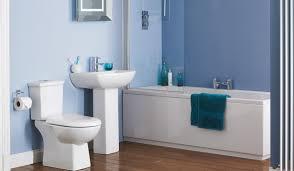 Blue elegant bathroom ...