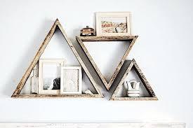 triangle wood shelf wood art set of 3 triangle shelves reclaimed wood triangle shelf pallet wood triangle wood shelf