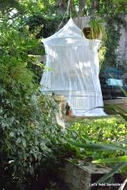 mosquito netting around the stock tank pool outdoor net tent for