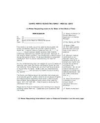 Emergency Leave Request Letter For Vacation Approval Sample Of