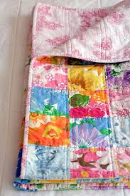 Look What I Made: Vintage Sheet Quilt No.3   Katie's Kitchen Blog & Vintage Sheets Quilt Adamdwight.com