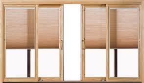 pella patio doors with blinds