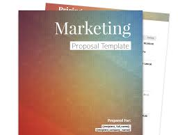 business proposal templates marketing proposal template
