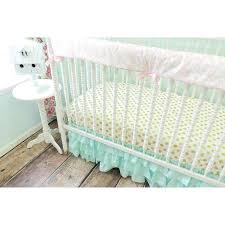 pink and gold baby bedding aqua ruffled skirt baby bedding aqua pink gold crib bedding crib