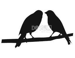 two bird silhouette. Brilliant Two Two Birds Silhouette Digital Download  Printable Graphic Iron On Transfer For Bird I