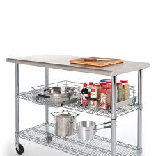 Stainless Top Kitchen Table Amazoncom Seville Classics Commercial Stainless Steel Top