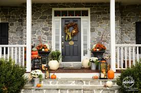 Fall Porch Decorating Fall On The Front Porch Stonegable