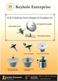 bathtubs this bathtub drain stopper and faceplate kit is easy to install use this kit