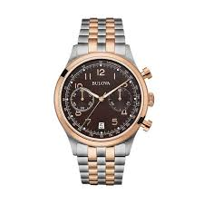 bulova men s 96b248 stainless steel two tone rose gold tone black bulova men s 96b248 stainless steel two tone rose gold tone black dial 30m water resistance watch