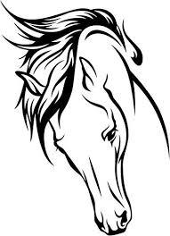 horse head clip art color. Exellent Color Horse Head Vinyl Decal Sticker Bumper Car Truck Window 6u0026quot Tall Matte  Black Color For Clip Art H