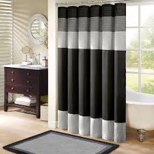 Black And White Curtain Designs Madison Park Amherst Shower Curtain Black 72x72