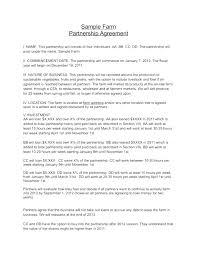 Sample Partnership Agreement Form Partnership Contract Template