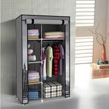 amazing portable closet with shelf i d 42 non woven canva cloth wardrobe storage unit 5 dresser y door lock mirror sliding shoe rack caster wheel