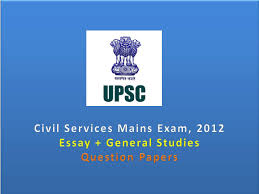 Upsc Mains Essay question papers
