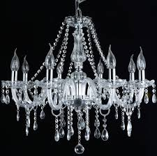 french provincial glass chandelier 8 arm modern ceiling light lighting clear unbranded