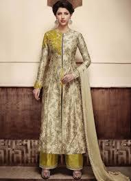 Punjabi Suit With Long Jacket Design Designer Salwar Kameez With Long Jacket Salwar Suits