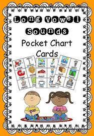 Long Vowel Sounds Pocket Chart Cards