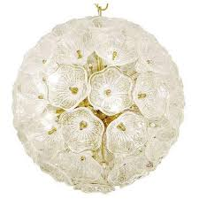 murano glass flowers chandelier in the style of venini for