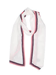 Details About Chanel Women White Silk Scarf One Size