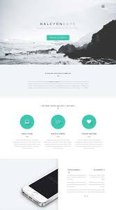 Single Page Website Template Enchanting HalcyonDaysFreeOnePageWebsiteTemplate Architecture
