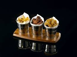 Details about <b>4x Stainless Steel</b> Table Serving Bucket /Fried Chip ...