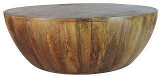 Image Steel Mango Wood Coffee Table In Round Shape Dark Brown Houzz Mango Wood Coffee Table In Round Shape Dark Brown Rustic Coffee
