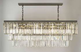 rectangular chandeliers for dining room