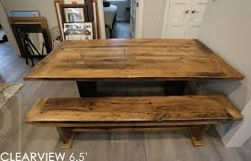 description 78 reclaimed wood table 40 wide reclaimed hemlock threshing floor construction greytone treatment to maintain colour of unfinished