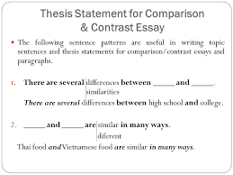 Example Of A Comparison And Contrast Essay Dissertation Writing Essay Tips For High School Also How To