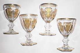 vintage baccarat crystal art deco wine glasses used lot of 4 no reserve 441351334