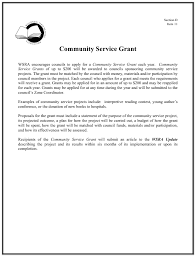 Community Service Grant Proposal Template Wisconsin State
