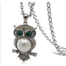 vintage women owl pendant neclace long sweater chain jewelry golden antique silver color charm fashion necklacenecklaces
