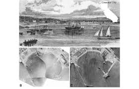 Crescent City Harbor A The Earliest Known Depiction Of