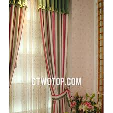 amazing red beige curtains decorating with beautiful country toile red beige and green striped curtains