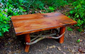 Rustic Furniture Stain Rustic Handmade Mountain Laurel And Red Stained Pine Coffee