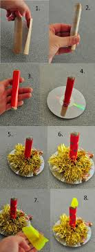 Paper Crafts For Christmas Paper Candle Made From Toilet Paper Christmas Craft Christmas