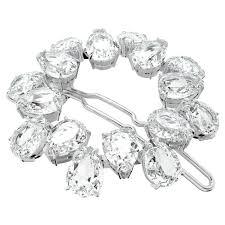 mil002 hair clip pear cut crystals