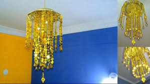 add wooden beads to chandelier recycled plastic bottle diy wall how make at home rustic kitchen