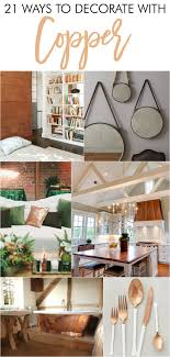 Beautiful ways to decorate with copper within the home. Love the copper home  decor,