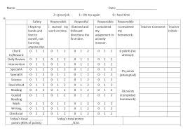 Behavior Intervention Chart Student Behavior Classroom