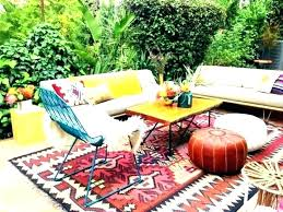 deck rugs outdoor area home depot pool an rug adds a splash of oran