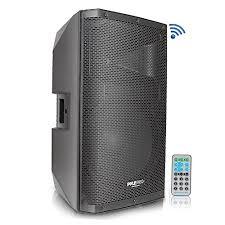 bluetooth pa monitor speaker system 1400 watt max 2 way indoor outdoor stage loudspeaker w 15 inch subwoofer 1 75 tweeter 38mm stand mount support