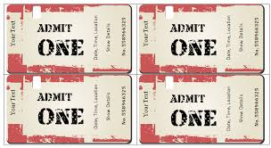 Concert Ticket Template Free Download