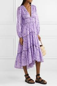 Ulla Johnson Joan Tiered Floral Print Cotton And Silk