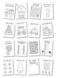 wedding activity book for kids wedding coloring book rustic wedding favor kids wedding table kids wedding activities set of 6