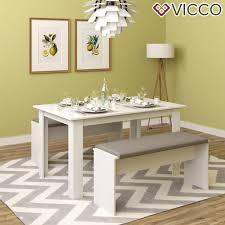 Vicco Tischgruppe Weiß Sitzgruppe Essgruppe H Real