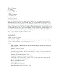 3 Free Baby Sitter Resume Samples In Word Collection Of Solutions