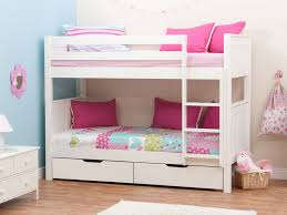girls white bunk beds. Exellent Beds Enchanting Cheap Bunk Beds For Girls With Mattress Pink  White Blue Throughout